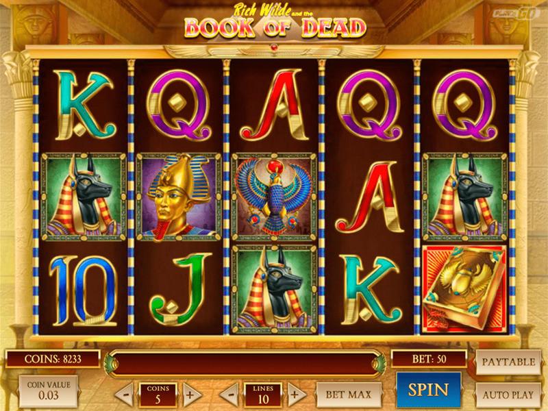 Jogode máquinas de dinheiro Book of dead online